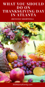 After all the food is gone or even before, use these great ideas for things to do in Atlanta on Thanksgiving Day. There are great suggestions for getting kids outside and activities the whole family will enjoy. Take a bike ride, go for a hike, join the Turkey Trot 5K, or go enjoy the holiday lights. These activities are good on the budget and your body! #Thanksgiving #thingstodo #Atlanta #kids #family #holidays