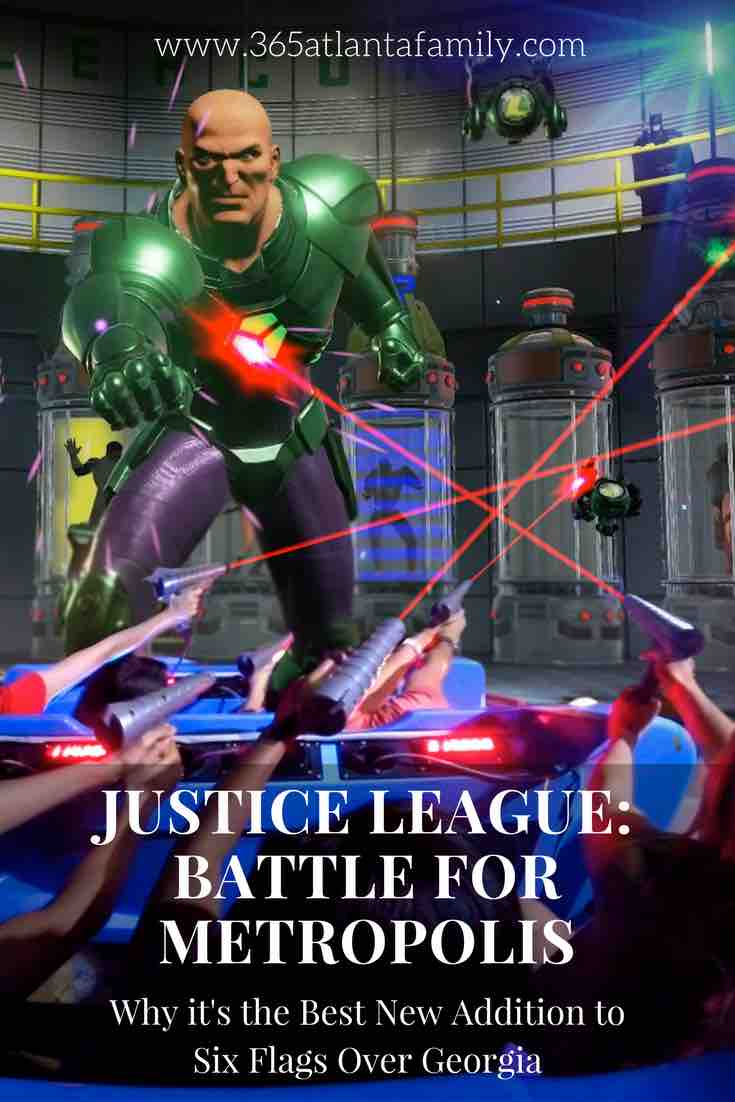 I loved the new dark ride Justice League: Battle for Metropolis at Six Flags Over Georgia. It's exciting for lots of different age groups too and you get to shoot the bad guys! This article tells you want you need to know (and lots of tips for a great day at Six Flags too!