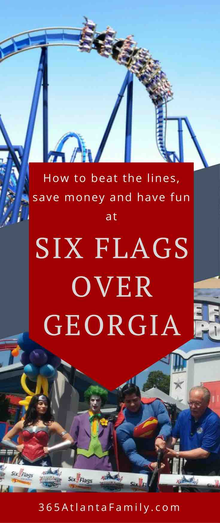 Before you head to Six Flags Over Georgia, you MUST read this post on how to beat the lines, save money and get the best experience ever at this amusement park outside Atlanta.