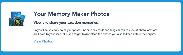 ow do I link my Disney Memory Maker to my Disney PhotoPass Account?
