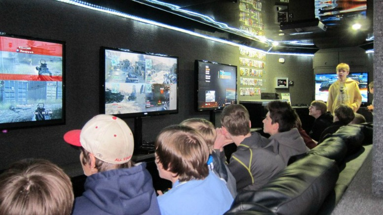 Inside the Game Truck at the Game Truck Party