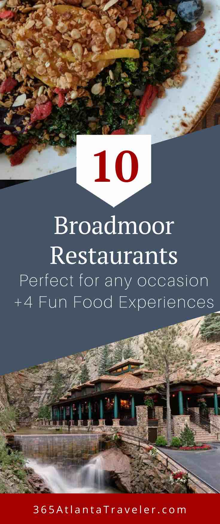 There are 20 dining experiences at the Broadmoor Hotel in Colorado Springs. This post breaks them out so you know the perfect Broadmoor restaurants for special occasions to casual dining. (+ 4 amazing food related activities)