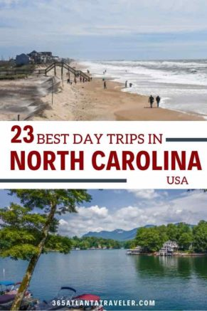 From museums and restaurants in North Carolina's big towns to the beaches and mountains of her small towns, there is just so much to do here.  Take an adventure with multiple families, friends or on your own as a couple. Regardless of your ideal excursion style, North Carolina has much to offer. Check out these 23 incredible day trips in NC, and let us know your favorites!
